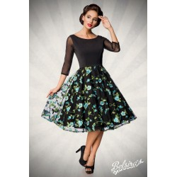 Rochie swing Vintage pin up rockabilly fusta larga bleu