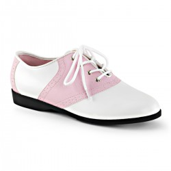 Pantofi gangster alb roz accesorii teatru SADDLE 50