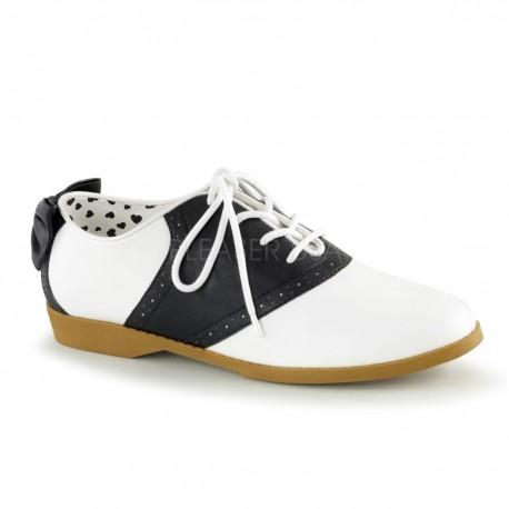 Pantofi gangster alb negru accesorii teatru SADDLE 53