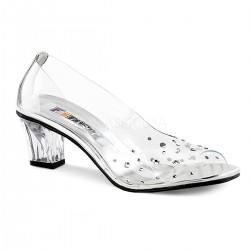 Pantofi transparenti condur printesa accesorii teatru CRYSTAL 100