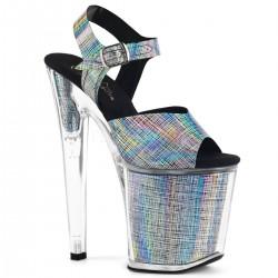 Sandale cu toc inalt XTREME 808 n-crhm argintii marimi mari