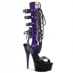 Sandale cu toc inalt papuci dansatoare de club DELIGHT 600 38