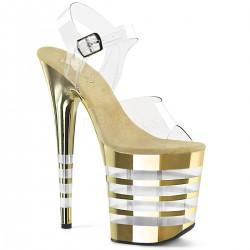 Sandale cu toc inalt papuci dansatoare pole dance dans la bara FLAMINGO 808 CHLN