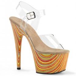 Sandale cu platforma inalta papuci dansatoare ADORE 708 JB
