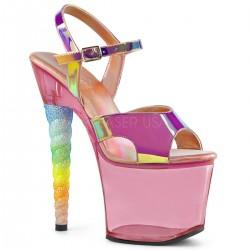Sandale animatoare papuci cu toc inalt dansatoare pole dance sexy club UNICORN 711 T