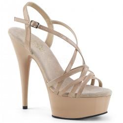 Sandale toc inalt comode cu platforma marimi mari DELIGHT 613