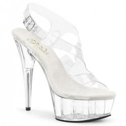 Sandale transparente marimi mari toc inalt dansatoare DELIGHT 630