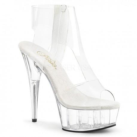 Sandale transparente marimi mari toc inalt dansatoare DELIGHT 633