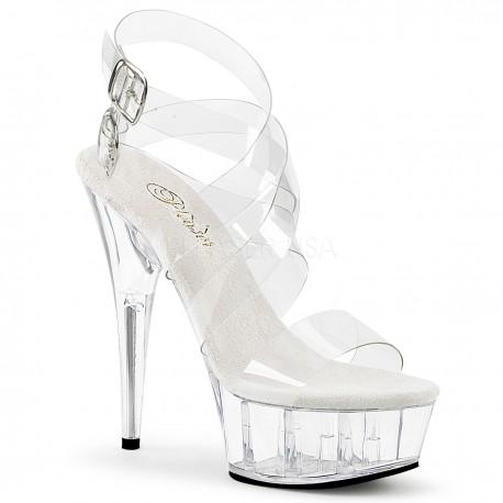 Sandale transparente marimi mari toc inalt dansatoare DELIGHT 635