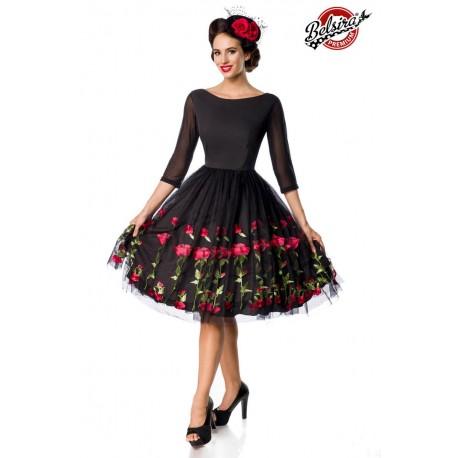 Rochie Vintage Swing pin up dantela trandafiri