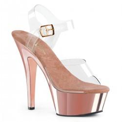 Sandale KISS 208 cu toc mediu comode silicon pleaser