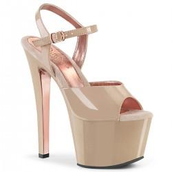 Sandale cu toc inalt papuci dansatoare marimi mari SKY 309 TT