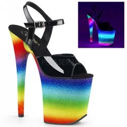 Sandale cu toc inalt papuci dansatoare streaptease FLAMINGO 809 WR