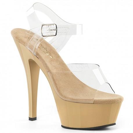 Sandale KISS 208 de mireasa cu toc mediu comode silicon pleaser