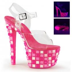 Sandale cu platforma transparenta papuci dans la bara SKY 308 UVTL