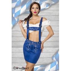 Costum Dirndl oktoberfest berar balul vanatorilor 0028 albastru