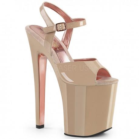 Sandale cu toc inalt papuci dans la bara marimi mari XTREME 809 TT