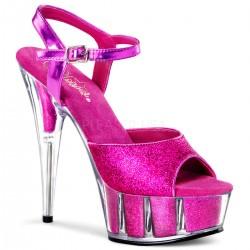 Sandale toc inalt marimi mari roz DELIGHT 609 5 G