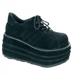 Pantofi TEMPO 08 stil gotic demonia talpa lata piele intoarsa