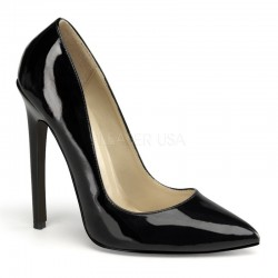 Pantofi cu toc inalt stiletto SEXY 20 Negru lac