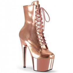 Botine roz marimi mari papuci dansatoare toc inalt ADORE 1020