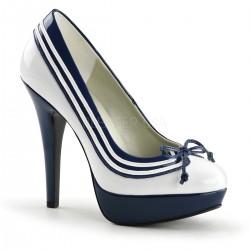 Pantofi pin up retro rockabilly marinar toc inalt LOLITA 13