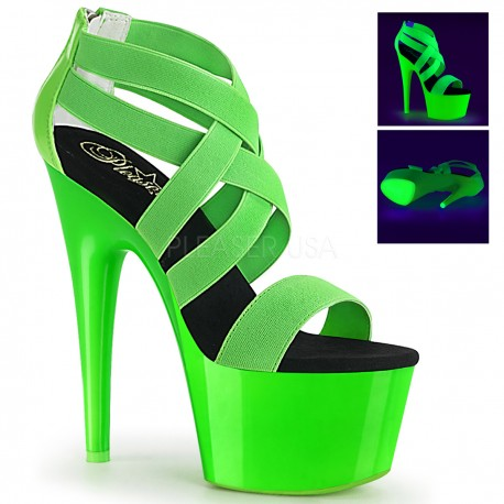 Sandale verzi toc inalt papuci dans la bara dansatoare ADORE 769 UV