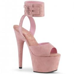 Sandale toc inalt piele intoarsa papuci dans la bara ADORE 791