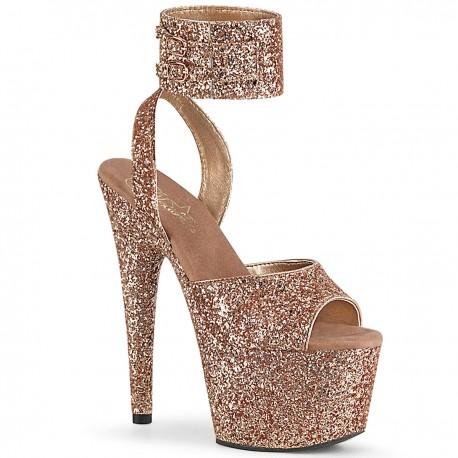 Sandale toc inalt piele intoarsa papuci dans la bara ADORE 791 LG