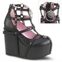 Pantofi stil gotic demonia piele POISON 25-1