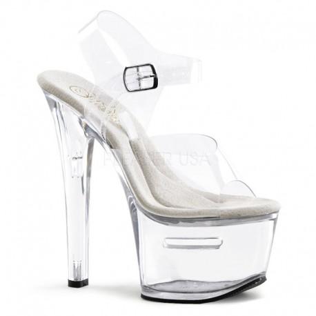 sandale transparente papuci dansatoare platforma inalta TIP JAR 708