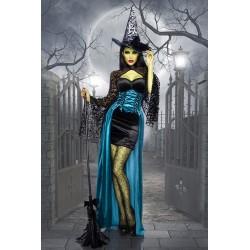 Costum Vrajitoare rochie halloween accesorii recuzita teatru 3567