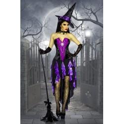 Costum Vrajitoare rochie halloween accesorii recuzita teatru 3568