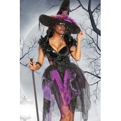 Costum Vrajitoare rochie halloween accesorii teatru 2631