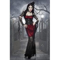 Costum Vampirita rochie vrajitoare halloween accesorii teatru 1847