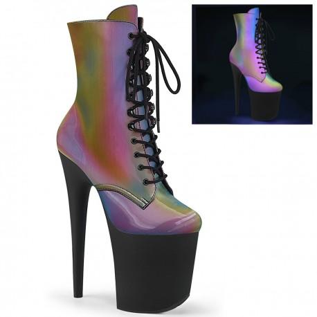 Botine toc inalt papuci dansatoare hostess FLAMINGO 1020 REFL