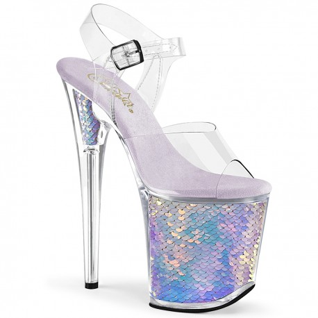 Sandale toc inalt papuci dansatoare dans la bara hostess FLAMINGO 808 MC