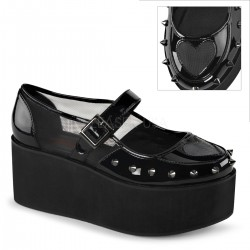 Pantofi stil gotic demonia talpa lata GRIP 01