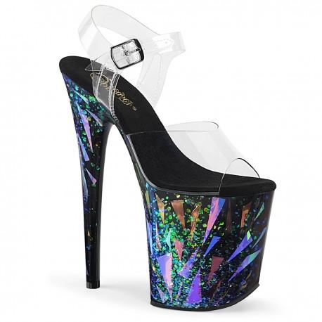 Sandale toc inalt papuci dansatoare hostess FLAMINGO 808 SPLA-1