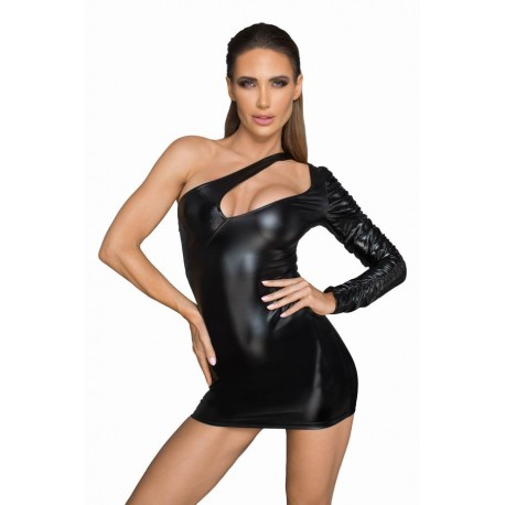 Rochie Asimetrica aspect ud wetlook de club