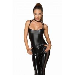 Top Corset bluza aspect ud noir handmade