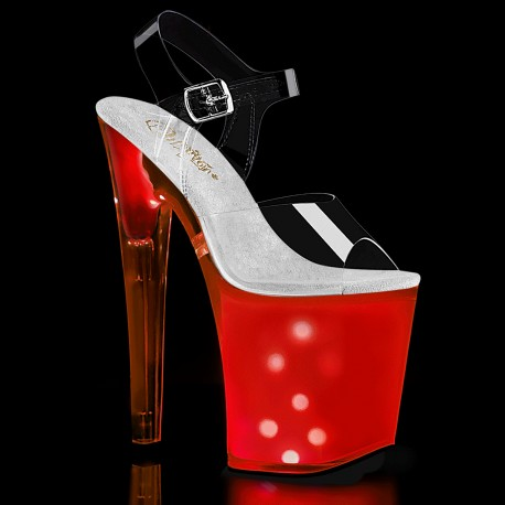 Sandale DISCOLITE 808 toc inalt papuci hostess animatoare dansatoare