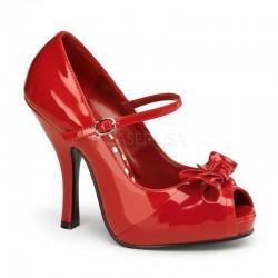 Pantofi pin up retro rockabilly rosii CUTIEPIE 08