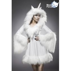 Costum Inorog de Vis costum alb recuzita teatru 0060