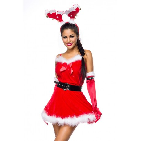 Costum Ren rochie rosie craciunita 4394