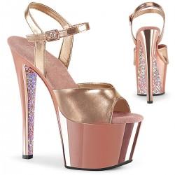 Sandale cu toc inalt papuci dans la bara KISS 209 TTG