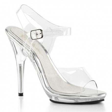 Sandale transparente toc inalt elegante POISE 508