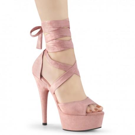 Sandale toc inalt marimi mari papuci animatoare hostess DELIGHT 679