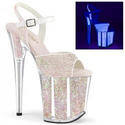 Sandale toc inalt papuci hostess animatoare dansatoare FLAMINGO 810 UVG