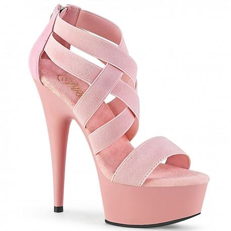 Sandale toc inalt dansatoare marimi mari DELIGHT 669